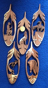 Feather Inlay Designs